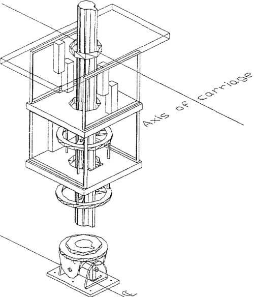 small resolution of sketch of the four component yacht dynamometer used in the tests