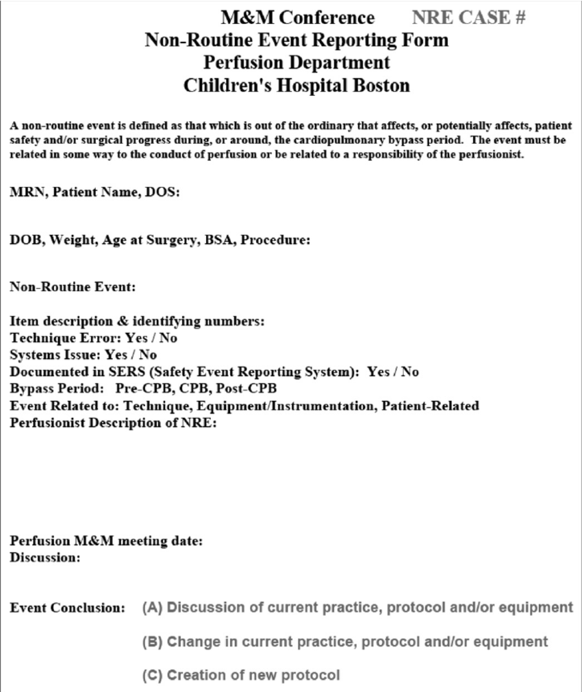 Bsa Incident Report Form