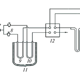 Schematic of an apparatus for the powder specific surface