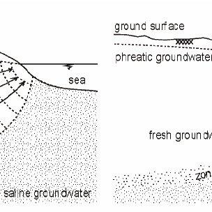 Salt water intrusion in a coastal aquifer: a. the