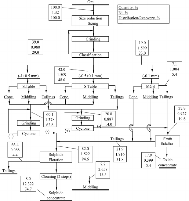 Developed process flowsheet under optimum conditions