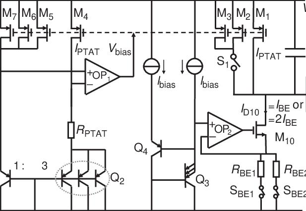 8 Simplified circuit diagram of the CMOS temperature