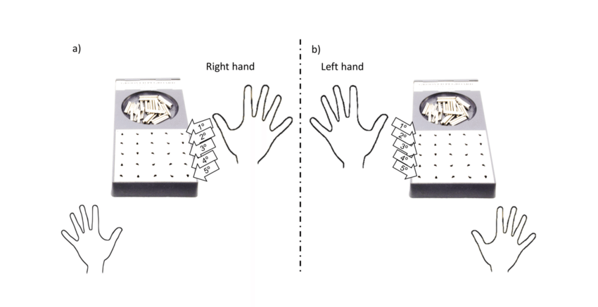 Grooved Pegboard manual dexterity assessment task and the
