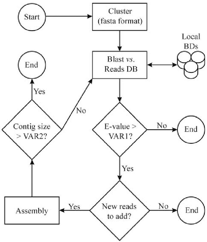 Flowchart of the Saturation Blast algorithm. Initially