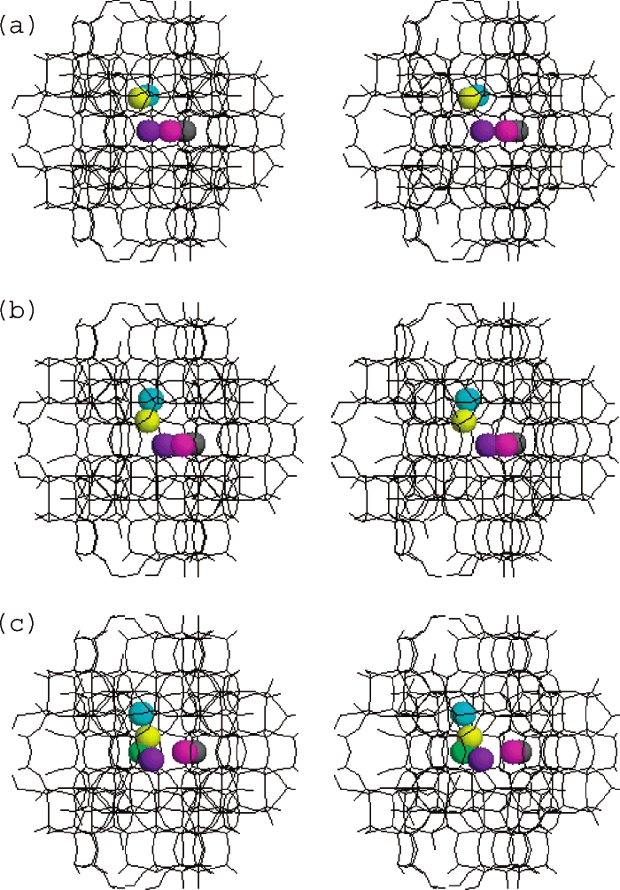 Structural detail showing the cesium cations in the MFI