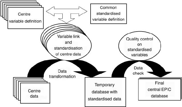 Flow chart of lifestyle and personal data: the European