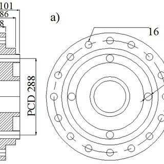 a) Filament wound shells, b) Strain gauge positions, c