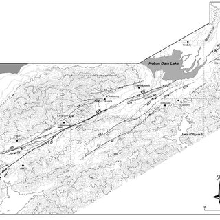 Detailed Quaternary geological map of the area between the