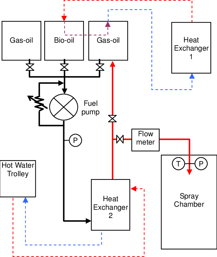 Schematic representation of fuel delivery system