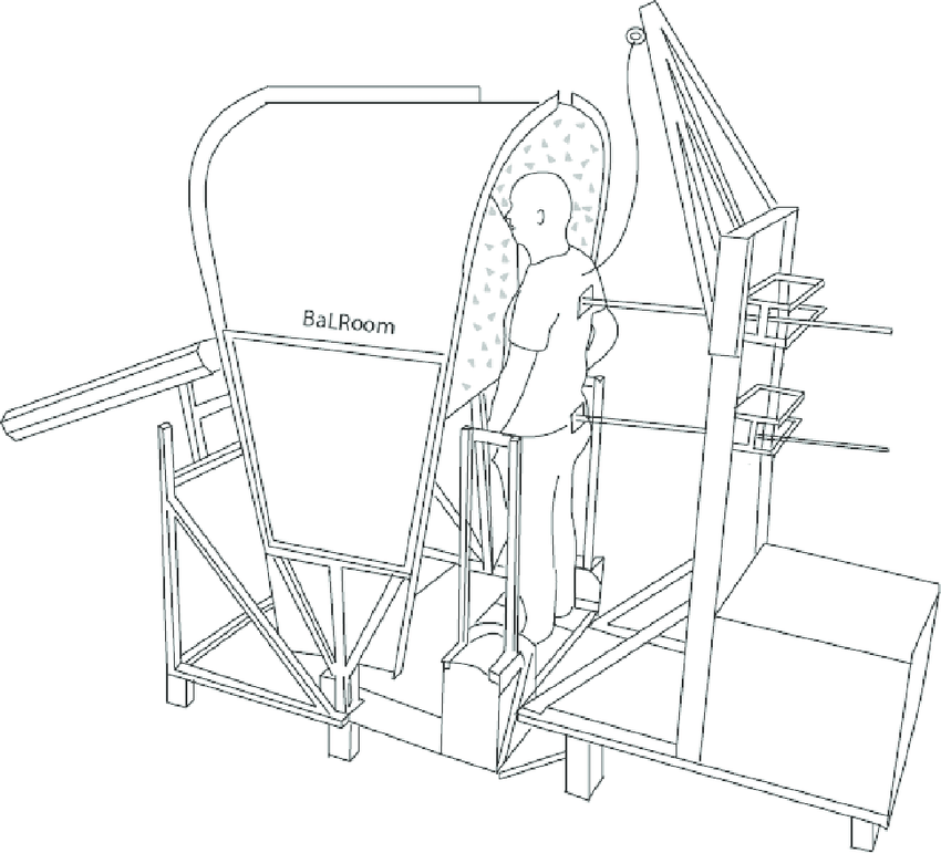 Schematic set up of the Balance test Room consisting of