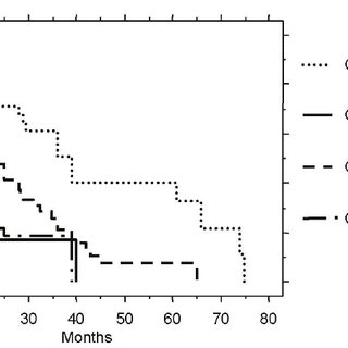 Kaplan-Maier plot of overall survival after failure from