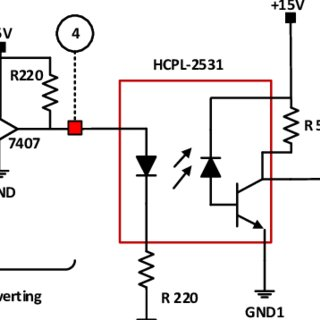 Schematic circuit of the electronic circuit for automotive
