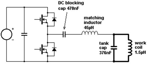 Half Bridge induction Heater Using LCLR Work Coil