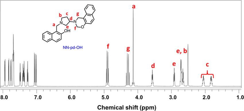 1 H NMR spectrum of NN-pd-OH in extremely dried DMSO-d 6