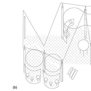 Kazuyo Sejima's diagrams for Platform II House; (a, b