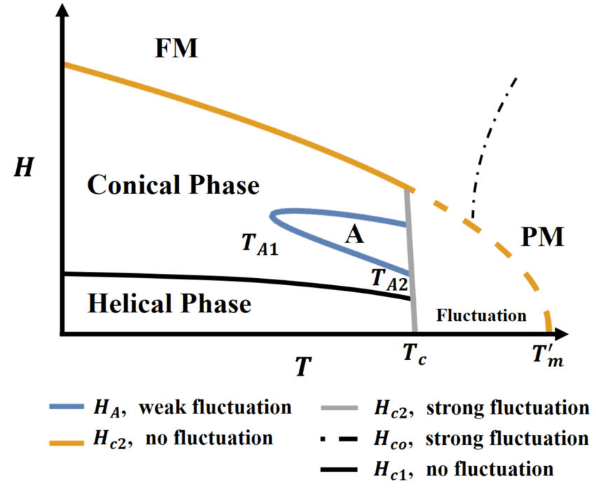 Fig. S3. Schematic phase diagram. Phase transitions and