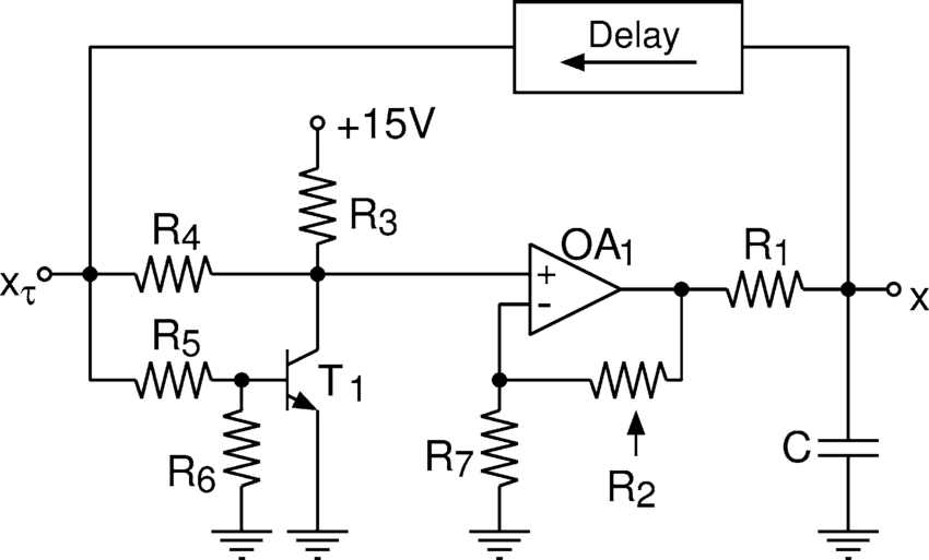 Schematic diagram of the electronic circuit used in [22