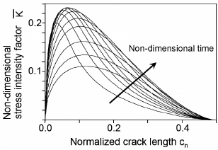 Non-dimensional stress intensity factor as a function of