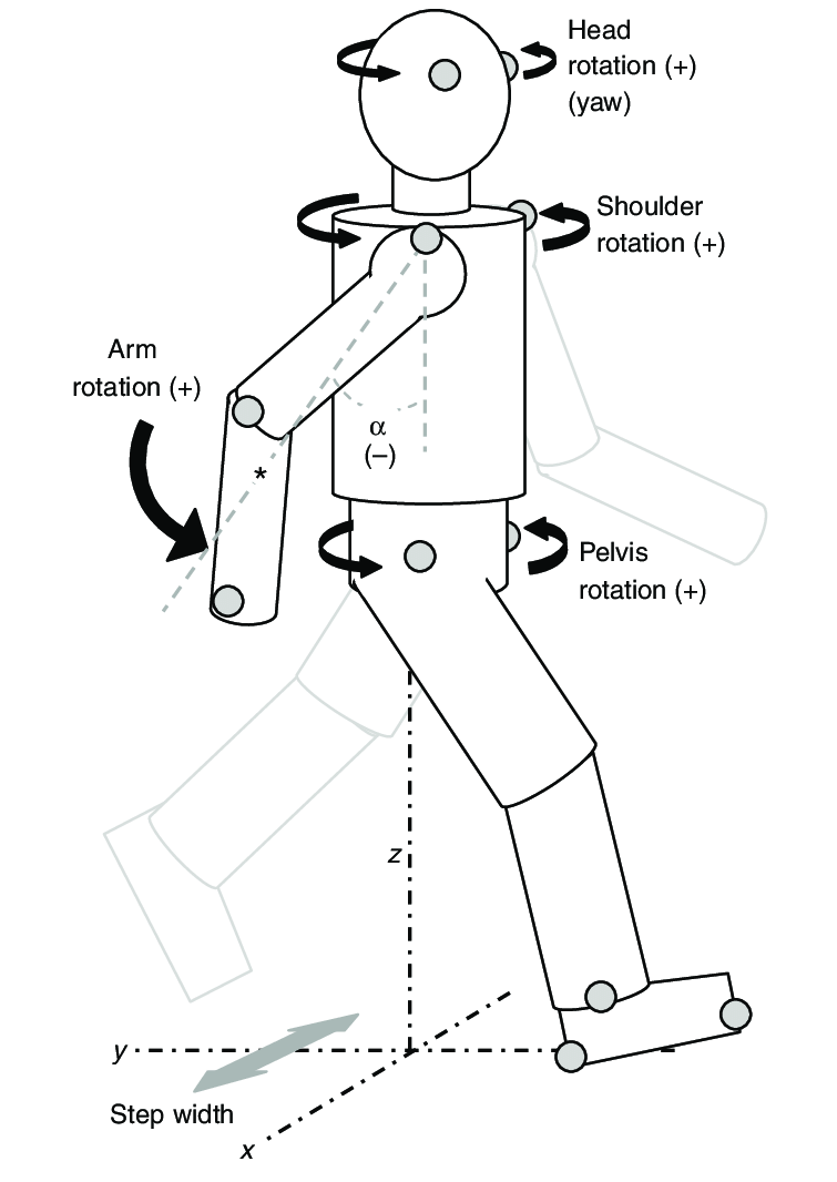 Schematic diagram of the reference frame and kinematic