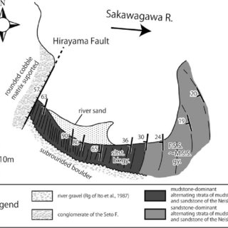 Detailed geologic map of the Hinata Fault and its