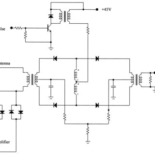 The circuit diagram of the Transmitter/Receiver switch (TR
