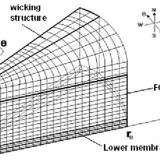 Temperature distribution in the Si microchannel evaporator