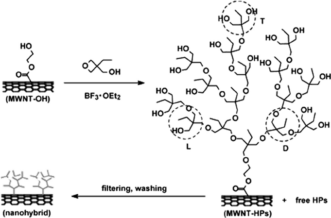 Grafting of hyperbranched polymers: From unusual complex