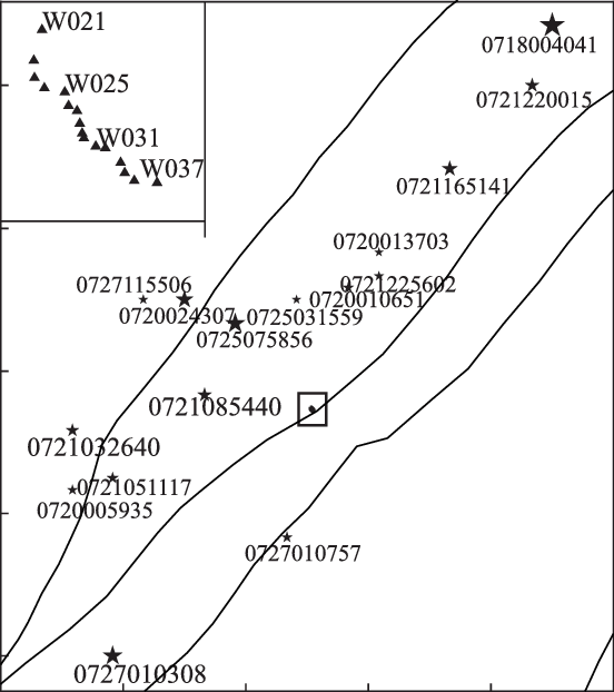Location of Hongkou seismic array. Gray lines represent
