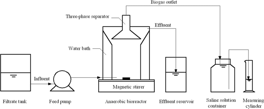 Process schematic of continuously stirred tank reactor for