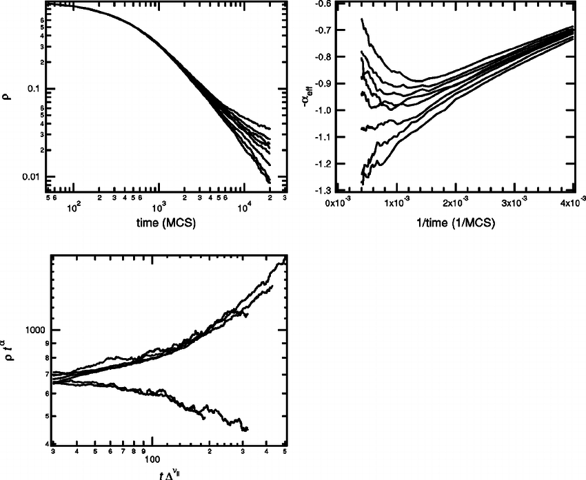 Results of Monte Carlo simulations initiated with one