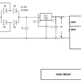 Schematic diagram of low voltage regulated power supply