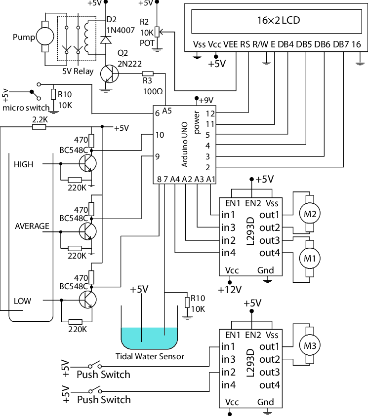 Complete Circuit Diagram of the Autonomous Floodgate