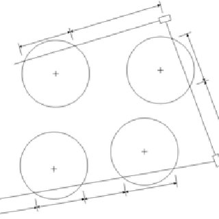 Four tag patterns: a) square, b) parallelogram, c) tilted