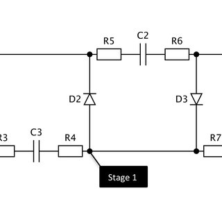 Wiring diagram of the Greinacher circuit for negative high