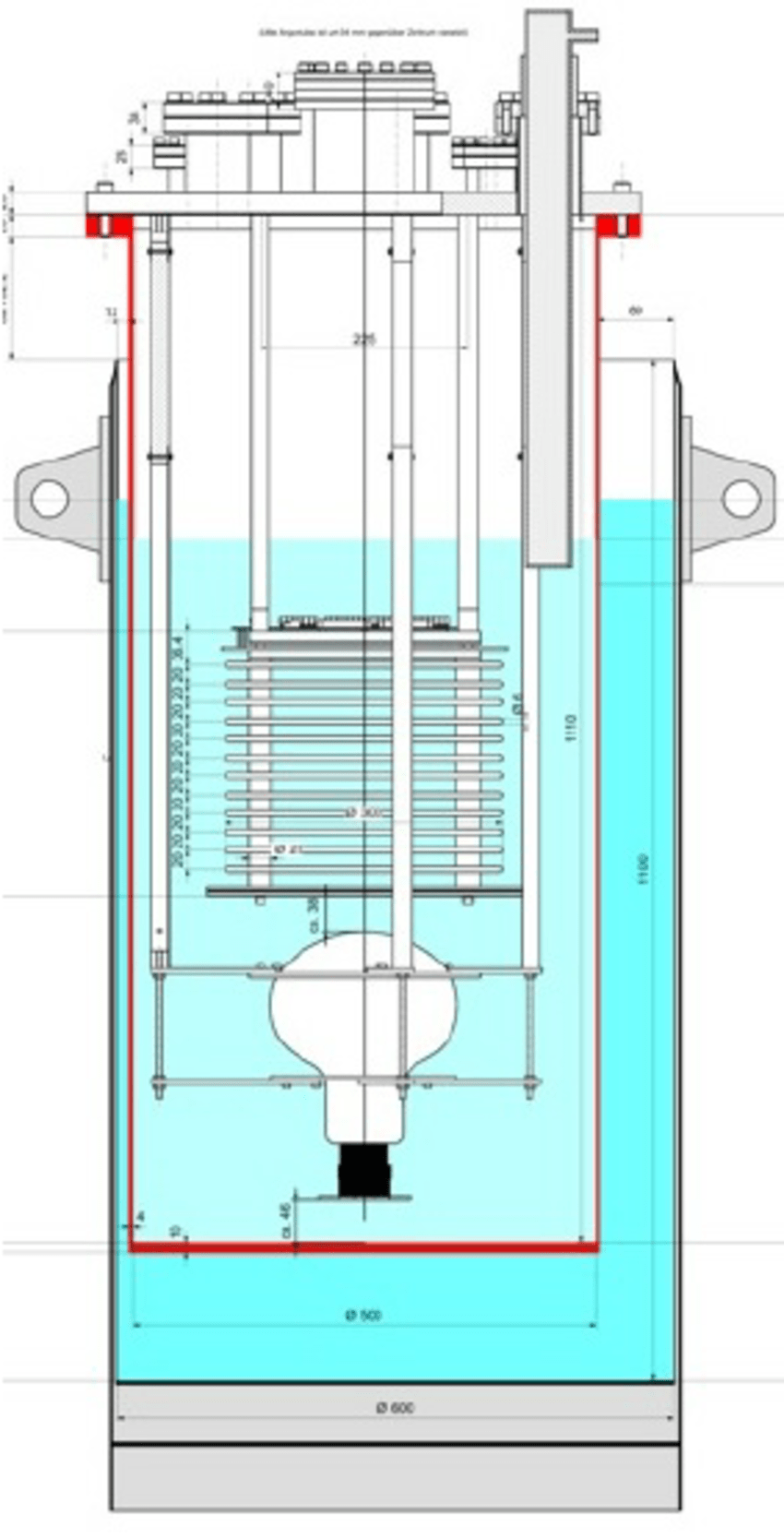 hight resolution of schematic drawing of the detector set up the tpc mounted with the drift coordinate vertically the pmt and the relative supports are housed in a