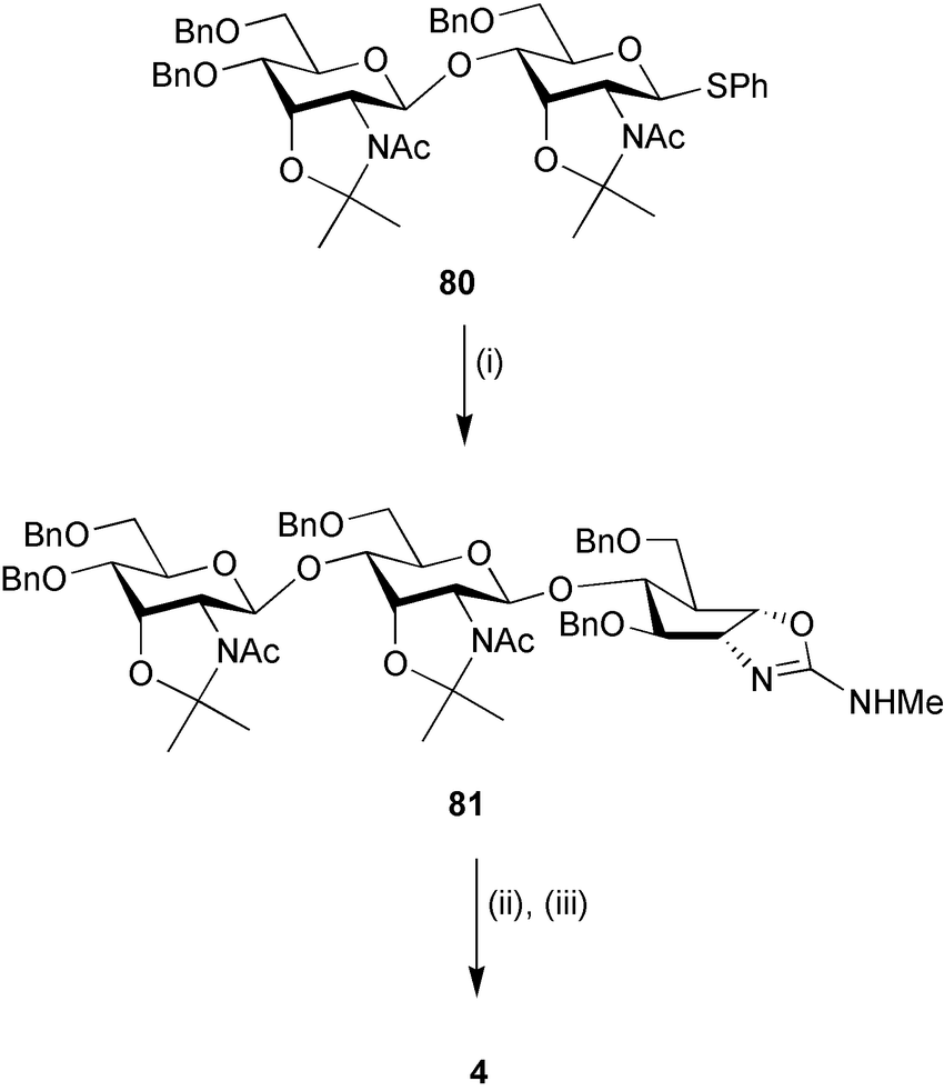 Scheme 13 Reagents and conditions: (i) 79, NIS, TfOH, 4 A