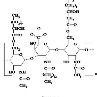 Chemical structures of the main low molecular weight