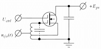 Schematic diagram of the one-port transistor amplifier