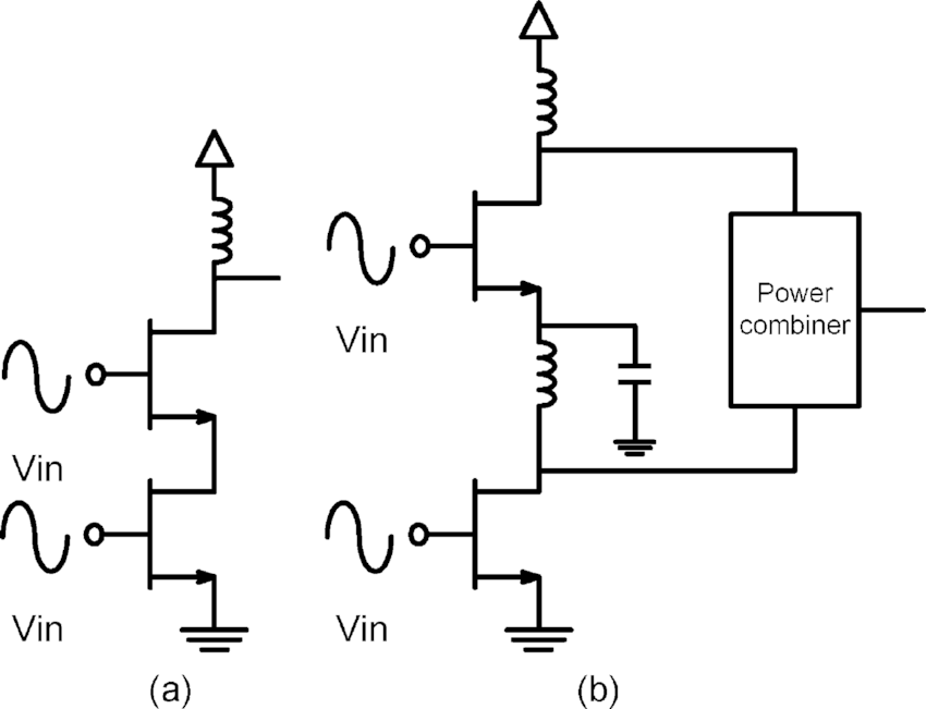 Simple cascode circuit with proper input. (a) Simple