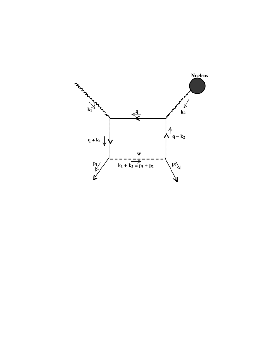 medium resolution of feynman diagram for the photo coulomb neutrino process having e w