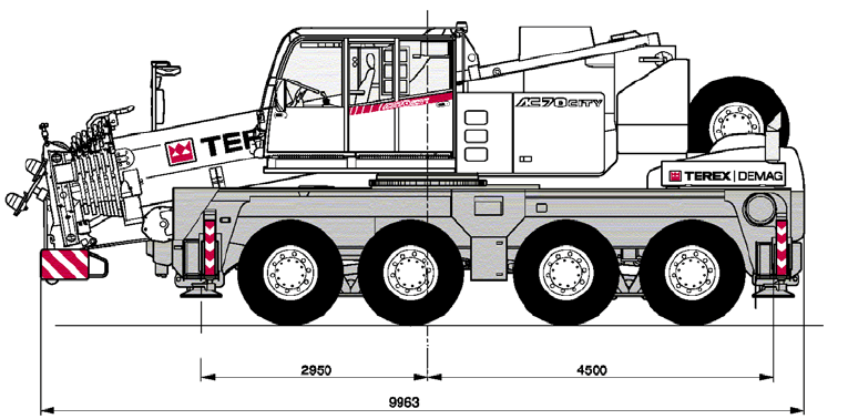 Example of a mobile crane, AC70 City , Terex-Demag (2005