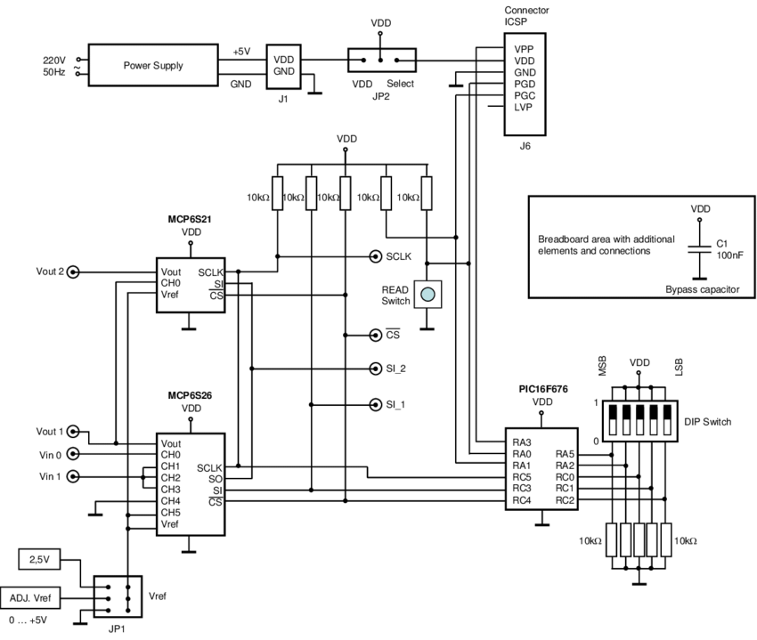 Simplified circuit diagram of Module 2: