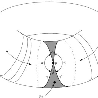 A schematic drawing of the parallel translates of the