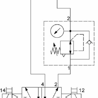 Pneumatic circuit with pressure regulator and non return