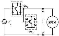 A main power circuit of a PWM AC chopper for a soft