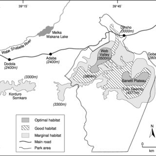 Human settlements in and adjacent to wolf range in the