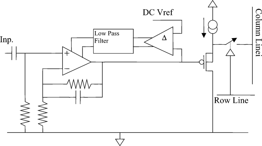 Block diagram of an individual preamplifier. The symbol 1