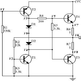 The transistor amplifier example Resistances R 1 ,..., R 5
