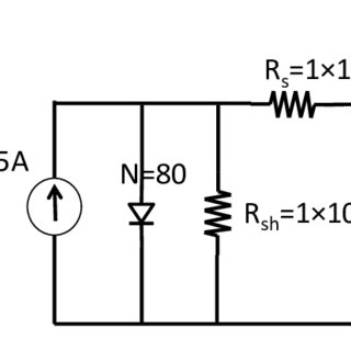 Circuit schematic of a PV array with a negative CCC to