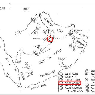 Surface geological map of Qatar; (Centre for GIS
